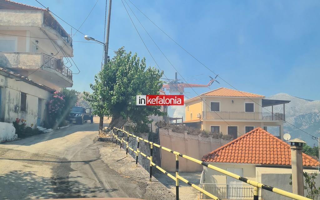 Κεφαλονιά: Η φωτιά μπήκε στο Καπανδρίτι - Εκκενώνονται χωριά