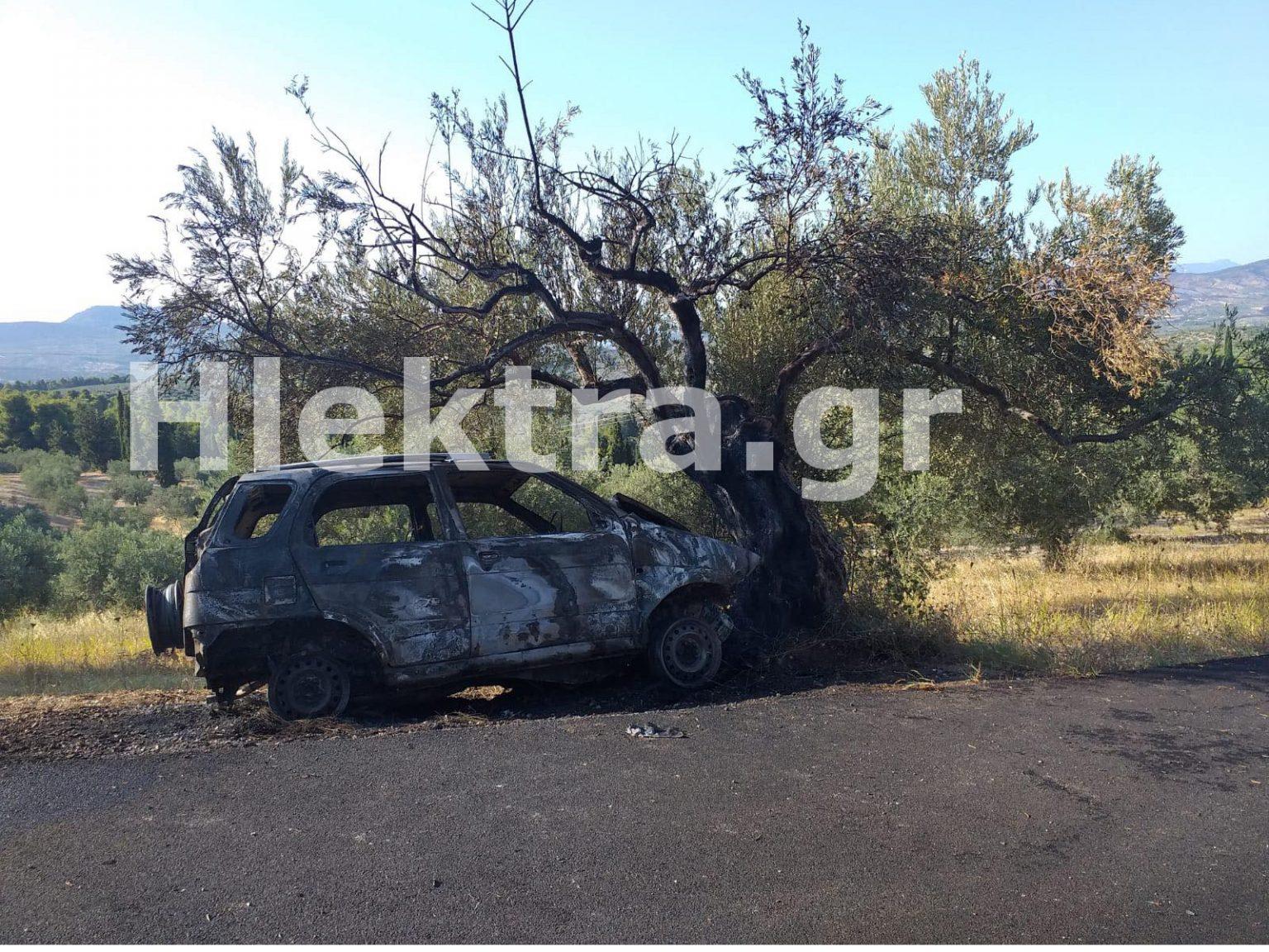 Θρίλερ στην Κορινθία: Βρέθηκε καμένο αυτοκίνητο με απανθρακωμένο τον οδηγό – ΒΙΝΤΕΟ – ΦΩΤΟ
