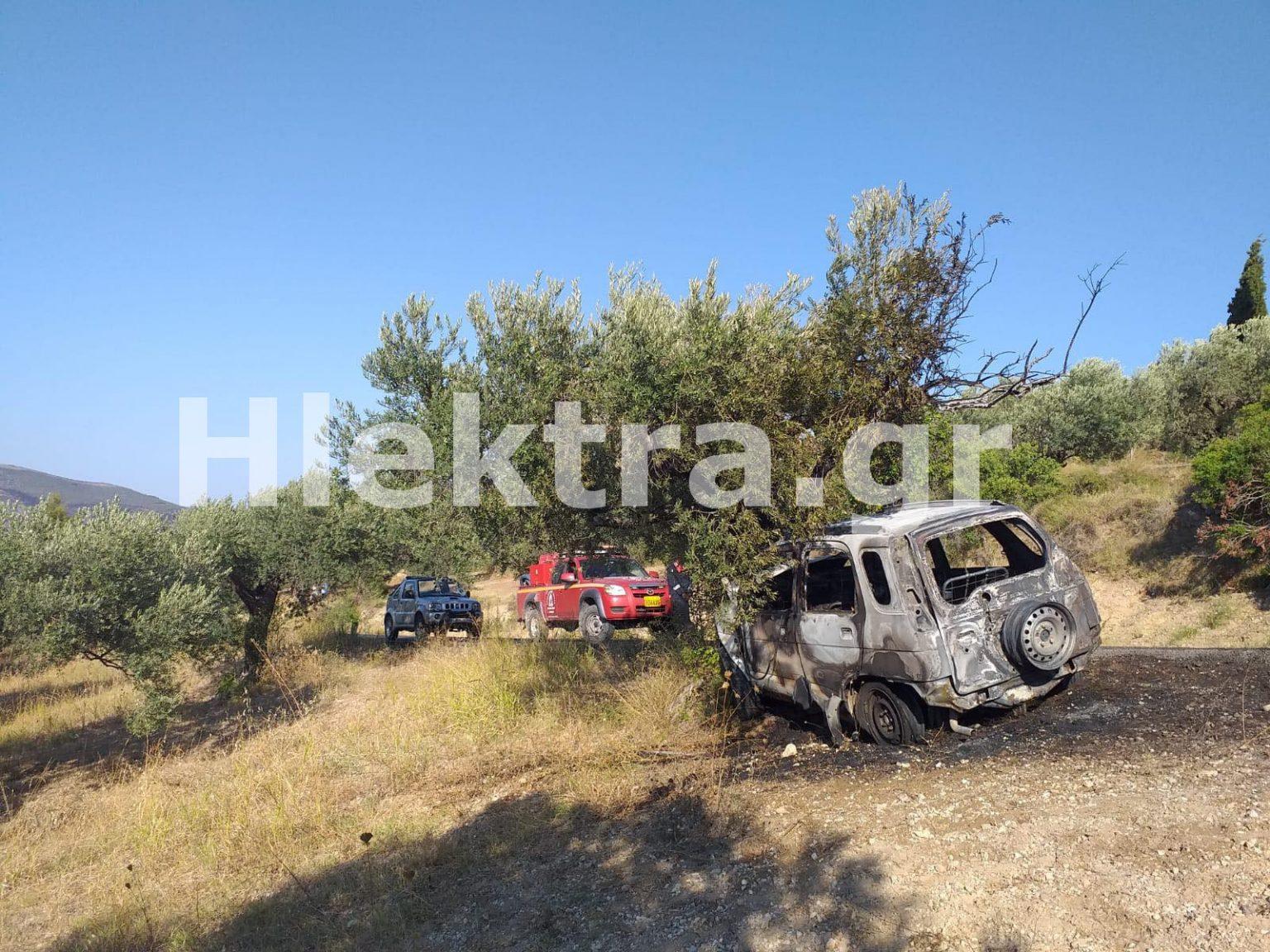 Κορινθία: Βρέθηκε καμένο αυτοκίνητο με απανθρακωμένο τον οδηγό