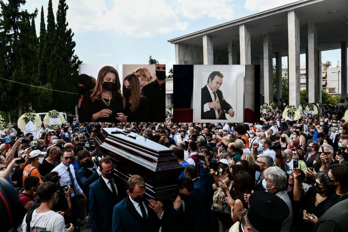 Στερνό αντίο στον πρίγκιπα Τόλη Βοσκόπουλο – Συντετριμμένες και διαρκώς αγκαλιασμένες η Γκερέκου με την κόρη τους στην κηδεία – ΒΙΝΤΕΟ – ΦΩΤΟ
