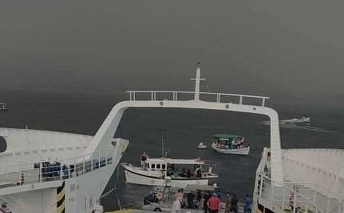 Φωτιά στην Εύβοια: Δραματικές στιγμές, καίγονται σπίτια – Αποκλεισμένοι πολίτες μεταφέρονται με ferry boat – ΒΙΝΤΕΟ
