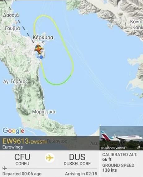 Αναγκαστική προσγείωση αεροπλάνου στην Κέρκυρα