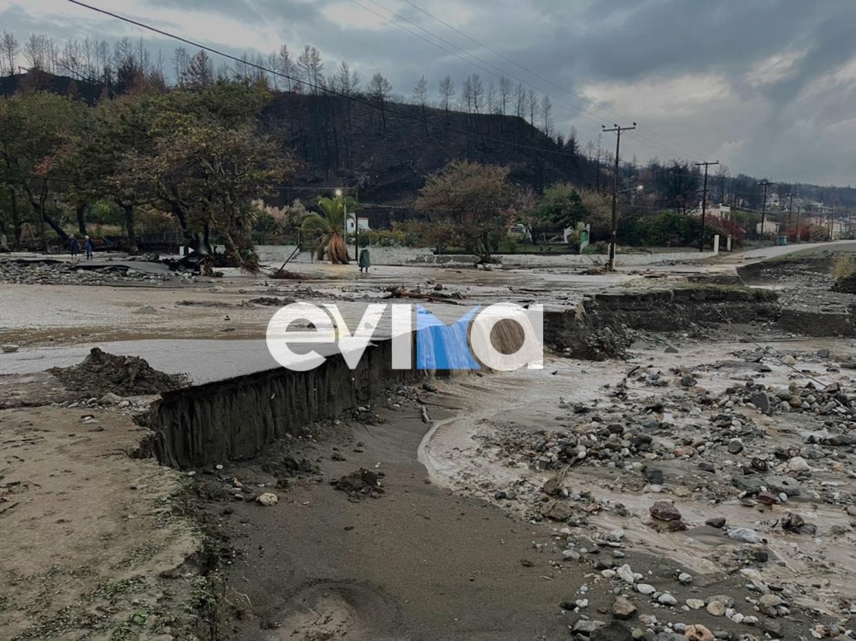 """Η κακοκαιρία """"Αθηνά"""" σάρωσε τη Βόρεια Εύβοια: Πλημμύρισαν σπίτια, υπερχείλισαν ποτάμια – ΦΩΤΟ, ΒΙΝΤΕΟ"""
