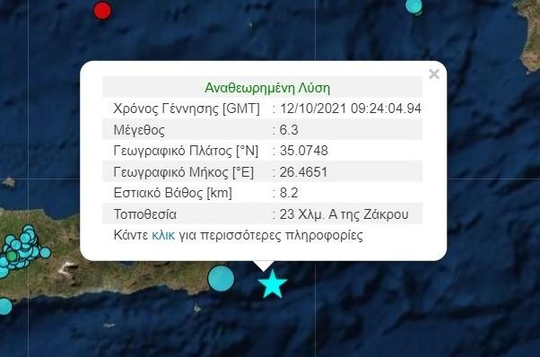 Ισχυρός σεισμός στην Κρήτη πάνω από 6 Ρίχτερ – Αισθητός και στην Αττική